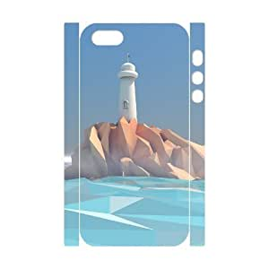 Custom New Case for Iphone 5,5S 3D, Lighthouse Phone Case - HL-R648732