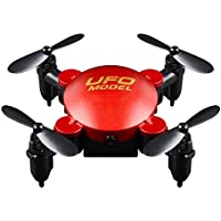 Owill 2.4G 3D-Flip 6-axis Gyro One Key Return Mini Foldable Quadcopter 360°Turn Over Aircraft (Red)