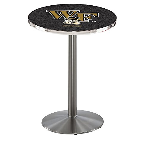 """Holland Bar Stool L214S Wake Forest University Officially Licensed Pub Table, 28"""" x 42"""", Black"""