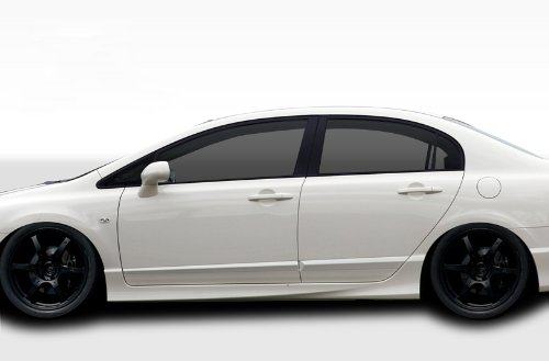 Duraflex Replacement for 2006-2011 Honda Civic 4DR JDM Type R Conversion Side Skirts Rocker Panels - 2 Piece ()