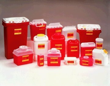 """BD 5.4 qt. Patient / Exam Room Sharps Collector, 10.75"""" x 10.75"""" x 4"""", . Pearl, Side Entry, Counter Balanced Doors, 1 Each, BD 305444"""