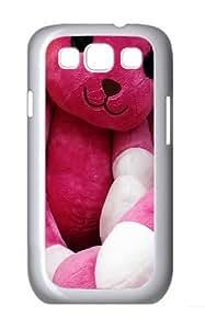 Teddy Bunnies Custom Hard Back Case Samsung Galaxy S3 SIII I9300 Case Cover - Polycarbonate - White