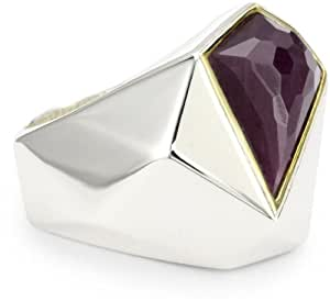 "Kara Ross ""Pyramid"" Large Ring, Size 7 with Ruby"