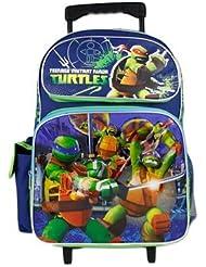 TMNT Teenage Mutant Ninja Turtle Boys 16 School Rolling Backpack Bag