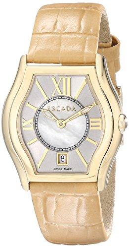 Escada Women's IWW-E3730042 Grace Analog Display Swiss Quartz Beige Watch