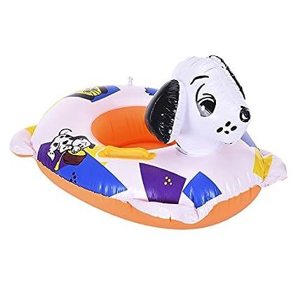 EUBeisaqi Perro Anillo de Natación Inflable Flotador Cuello Asiento del Flotador Ayuda de la seguridad para