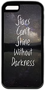 Inspirational Quote Stars Can't Shine Without Darkness Case for iPhone 4s PC Material Black
