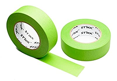 "2pk 1.5"" x 60 yd STIKK Green Painters Tape 14 Day Clean Release Trim Edge Finishing Masking Tape (1.44 IN 36MM) (2 Pack)"