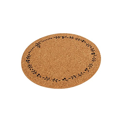 Western Style Retro Wood Thermal Insulation Cushion Cup