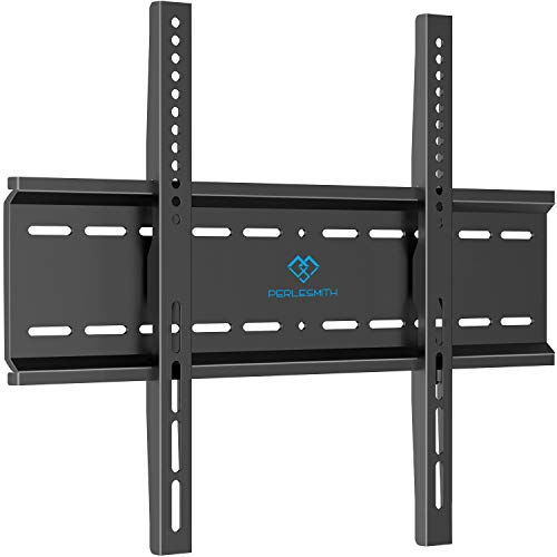 PERLESMITH Fixed TV Wall Mount Bracket with Low Profile Design for Most 26-47 Inch LED, LCD, OLED, 4K Flat Screen TVs - Ultra Slim Fix Mounting Bracket with Max VESA 400x400mm Weight up to 115lbs