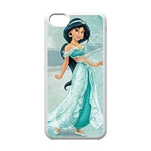 iphone5c White phone case Disney Cartoon Characters Jasmine DMU5278364