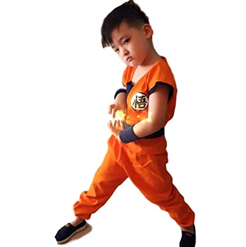 GK-O Dragon Ball Z Son Goku Saiyan Cosplay Costume Kids (Small(110-120cm)) Orange -