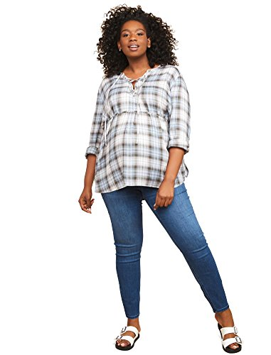 Jeans Cotton Maternity (Motherhood Maternity Women's Maternity Super Stretch Secret Fit Belly Skinny Leg Denim Jean, Medium Wash, 1X)