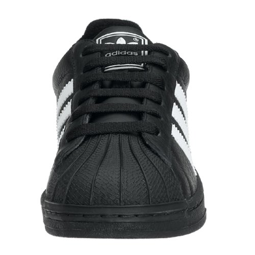 adidas Originals Big Kids Superstar II Basketball Shoe,Black//White,4 M Big Kid