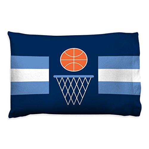Simple Stripe Pillowcase | Basketball Pillows by ChalkTalk Sports | Blue (Basketball Pillowcase)