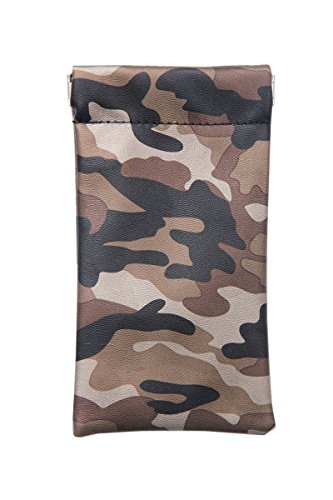 Lucky Leaf Sunglasses Goggles Pouch Case Women Eyeglass Holder with Cleaning Cloth - Camo Eyeglasses