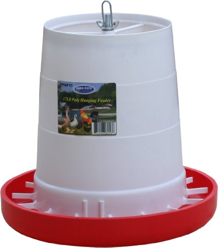 (Farm Tuff 064025 Plastic Hanging Poultry Feeder, 17-Pound)