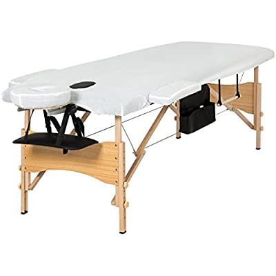 "Best Choice Products Portable 84"" Folding Massage Table Bed Set With Cover- Black"