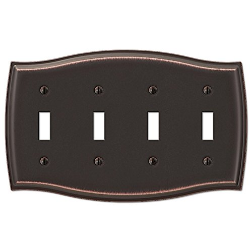 Sonoma 4 Toggle Wall Plate - Steel Aged Bronze ()