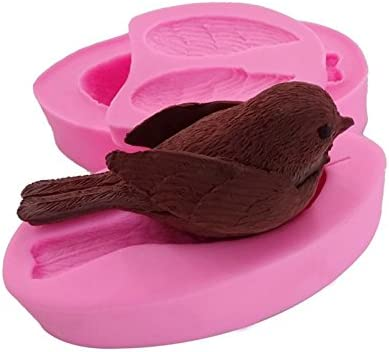 Cute Bird Fondant Silicone Mold Baking Chocolate Pastry Candy Cupcake Decor Tool