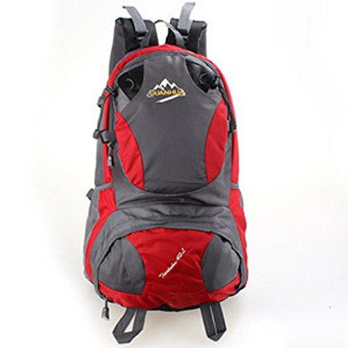 Casual Escalada al aire libre 40L de gran capacidad de camping excursionismo mochila , Random delivery Red