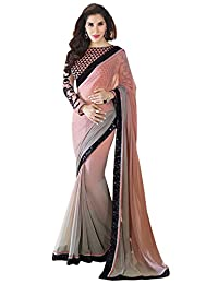 Bollywood Designer Women Traditional Faux Georgette Sari Party Wear Saree