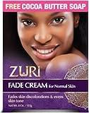Zuri Fade Cream for Normal Skin 4 oz. with free Cocoa Butter Soap