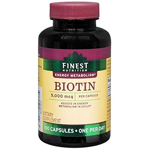 Finest Nutrition Biotin 5,000mcg, Capsules 100 ea by AB