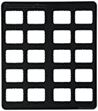 Dentsply 770138 Film Mount Charts 77 Series EZ-Tab Plastics, Black, Open Window, Vinyl, #2 20BW (Pack of 100)