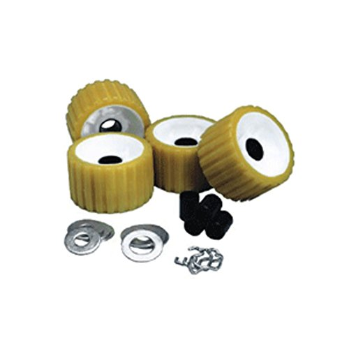 C.E. Smith Ribbed Roller Replacement Kit - 4 Pack - Gold Marine , Boating Equipment
