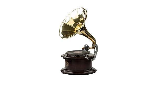Gramófono registra 70cm Madera Cuerno Embudo de Estilo Antiguo ...