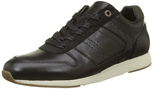 Levis Herren Bristol Sneakers Schwarz (Regular Black)