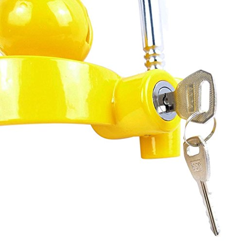 Blackpoolfa Trailer Hitch Coupler Lock by Anti-Theft Lock Trailer Accessories Adjustable & Universal Fits All - Heavy Duty Design with Iron and Aluminum Alloy Base - Easy to Install (Yellow) by Blackpoolfa (Image #5)