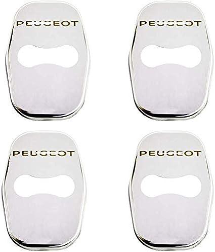 Serratura della Porta DellAuto Coperchio di Protezione GWQNB 4 Pezzi di Copertura in Acciaio Inossidabile per Serratura Antiruggine per Peugeot 3008 GT Chiusura con Fibbia Co