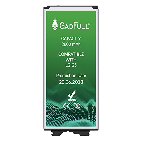 GadFull Battery for LG G5 |Production Date 2018 | Corresponds to The Original BL-42D1F | Smartphone Model LG G5 | G5 Dual Sim | G5 SE | G5 Lite | H850 | H860 | H840 | Perfect as Replacement Battery