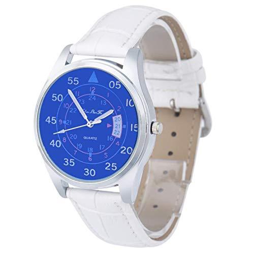 SamMoSon Relojes Hombre Deportivos Inteligentes Lotus Digitales Elegante,Hombre Cuarzo Dial Cuero Analógico Reloj De Pulsera Caja Redonda Reloj BW: ...