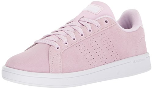 adidas Women's CF Advantage CL W, Aero Pink/Aero Pink/White, 10 M - Leather Pink Shoes Athletic