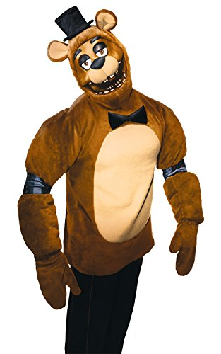 Rubie's Men's Five Nights Adult Freddy Costume, Multi, Small (Halloween Costumes Freddy)