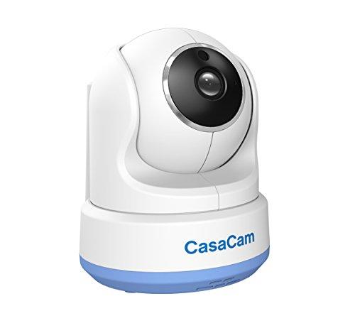 CasaCam BC200 Digital Wireless HD Pan Tilt Baby Camera, Add-on Camera for CasaCam BM200, Two-Way Audio, Night Vision, Temperature Monitoring, Night Light and Lullabies
