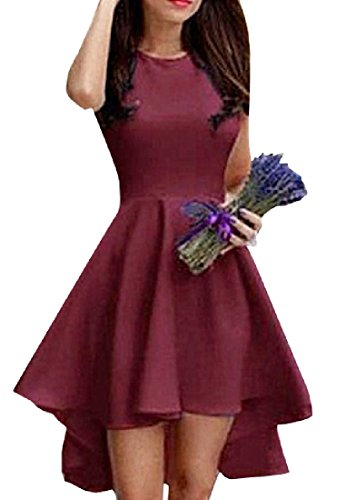 Dress Sleeveless Wine Oversize Scoop Coolred Spring Maxi Summer Bodycon Women Neck Red wgqwzOvZ