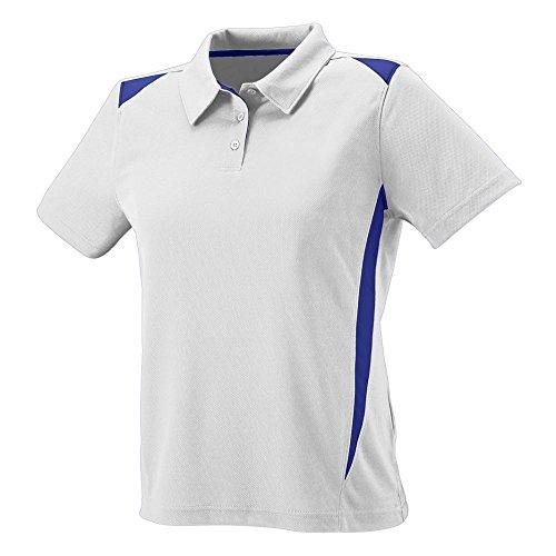 Augusta Sportswear WOMEN'S PREMIER SPORT SHIRT 2XL White/Purple Purple Premier Football Jersey