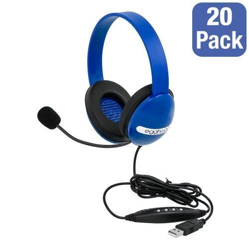 Egghead 1006 - Pack of 20 USB Preschool Headphones w/ Boo...