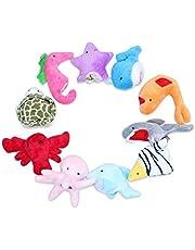 IKR 10 Pcs Ocean Soft Animal Finger Puppets Baby Educational Hand Toy Sea Animal Finger Puppets Plush Toys for Kids Story Time Kids Gift Toys