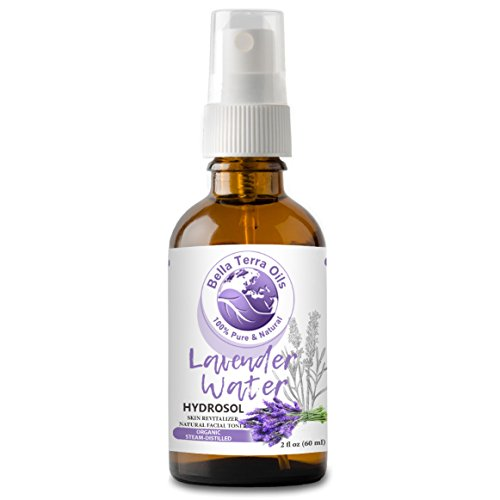 Lavender Flower Organic Alcohol - NEW Lavender Water. 2oz. Hydrosol. Facial Toner Revitalizer. Organic. 100% Pure. Alcohol-free. Steam-distilled from Lavender Flower. Moisturizing Body Mist. Natural Body Spray. For All Skin Types.