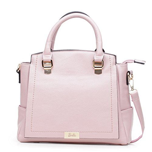 body BBFB590 Classic Barbie Cross Girl Shoulder Grey Bag Series OL Women PU Retro Black Style Fashion Pink aCwCvq
