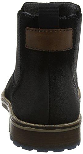 Rieker 25051-60 - Sandalias de ante para hombre Negro (Schwarz)