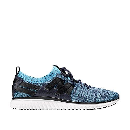 Cole Haan Mens Grandmotion Geweven Sneaker Met Stitchlite Marine Blauw-blauwbaars Gebreid