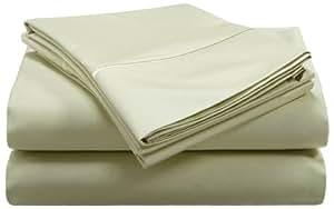 Renaissance 600-Thread-Count Cotton Sateen Queen Sheet Set, Pale Green