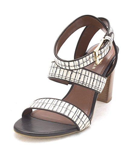 Cole Haan Womens CLH50731 Open Toe Casual Ankle Strap Sandals White/Black/Black Mtzau