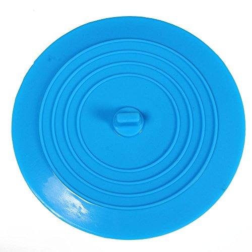 Dxg 6 Inches Silicone Tub Stopper Drain Plug, Sink Stopper For Your Kitchens, Bathrooms and Laundries (Blue)